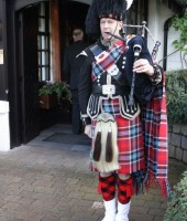 Ayrshire wedding piper