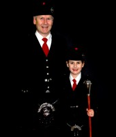 Ayrshire traditional piper